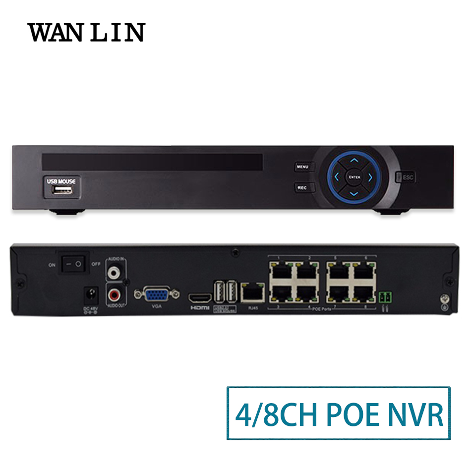 WANLIN 48V 8CH 3MP 4CH 1080P POE NVR Network Video Recorder CCTV SYSTEM Motion Detect ONVIF P2P For 2MP 3MP PoE IP Camera XMEYE techege 4ch 8ch full hd onvif 1080p 48v real poe nvr all in one network video recorder for poe ip cameras p2p xmeye cctv system
