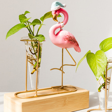 Скандинавские современные смолы Фламинго Гидропоника сухой цветочные композиции ваза гостиная украшения дома