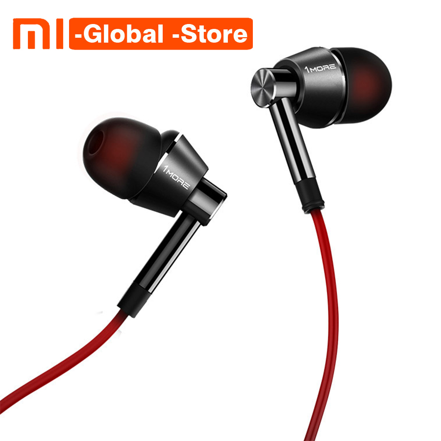 1MORE 1M301 Dynamic Driver In Ear Earphone with Microphone Control of Volume 80% Metal Diaphragm for iOS & Android Xiaomi Phone ручка перьевая parker urban core muted black ct 0 5мм синяя