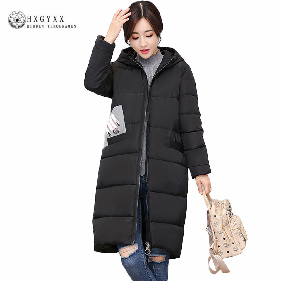 Casual Long Hooded Military Parka Plus Size Winter Puffer Jacket Women 2017 New Warm Ladies Coats Down Cotton Outwear Oka594 купить