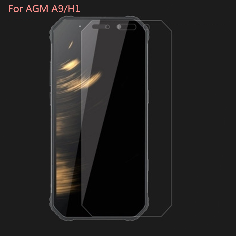 2PCS Tempered Glass For AGM A9 Screen Protector 9H 2.5D Protective Glass For AGM H1 Tempered Glass