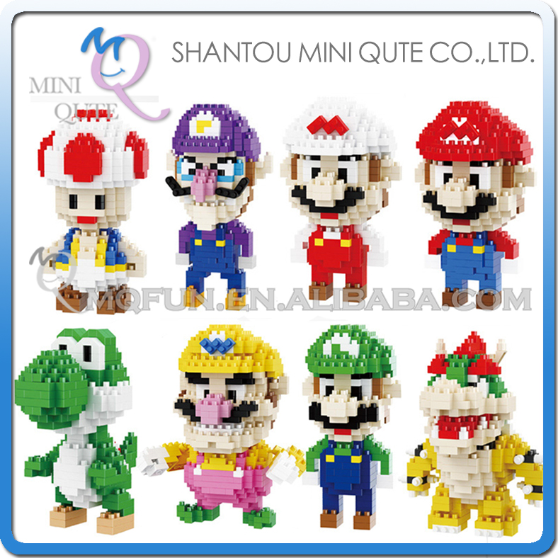 Mini Qute BALODY cartoon anime game models super mario building blocks brick Model action figures model educational toy gifts