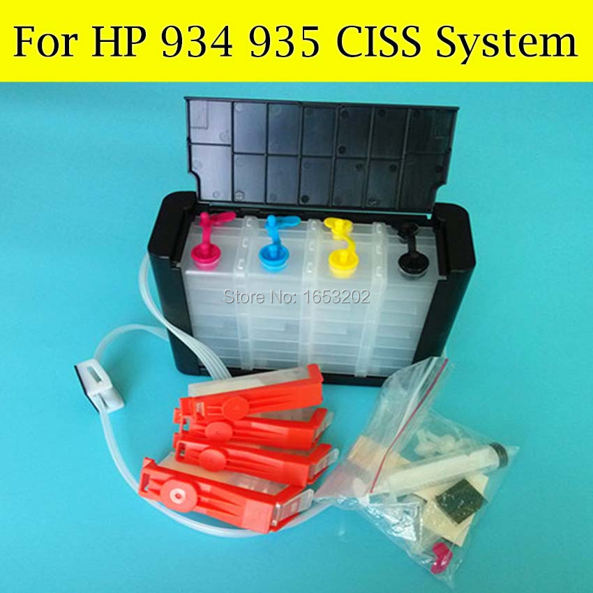 NEWEST HP934 Continuous Ink Supply System For HP 934 935 Ciss For HP Officejet Pro 6830 6835 6230 6815 6812 Printer small aluminum high temperature cooling fan blade metal vane 70mm diameter 6mm shaft