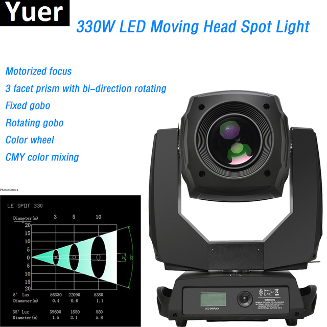 2018 Best Price 330W LED Moving Head Spot Stage Lighting Copy Clay Paky Top-Quality 3 Facet Prism 30 DMX Channels DJ Disco Bar