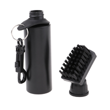 Protable Golf Club Groove Brush Plastic Cleaning Cleaner With Water Bottle Self-Contained - Black Ball