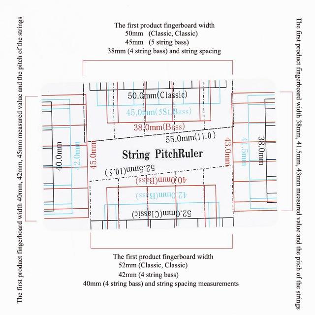 Bass String Gauge Calculator : 1pc guitar string action gauge string pitch ruler measuring tool for bass classical electric ~ Russianpoet.info Haus und Dekorationen