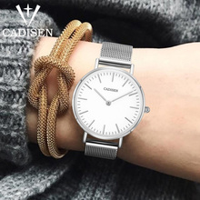 CADISEN Fashion Luxury Casual Women Quartz Watch Ultrathin Ladies Waterproof Dress Wristwatch Stainless steel Relogio Feminino