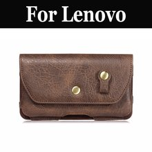 Soft Leather Men's Waist Bag Belt Clip Pouch Case Cover For Lenovo Lemon 3 C2 Vibe C Vibe S1L C2 Power A Plus Vibe K5 Note P2