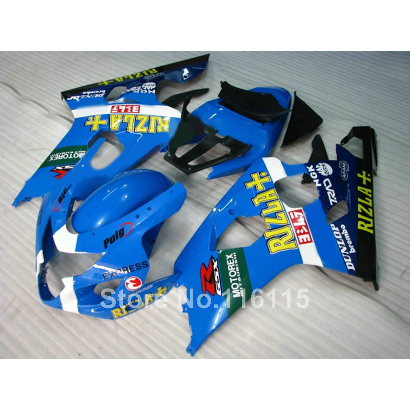 Motorcycle parts for SUZUKI GSXR600 GSXR750 K4 2004 2005 blue black RIZLA+ fairings set GSXR600/750 04 05 fairing kit WF2