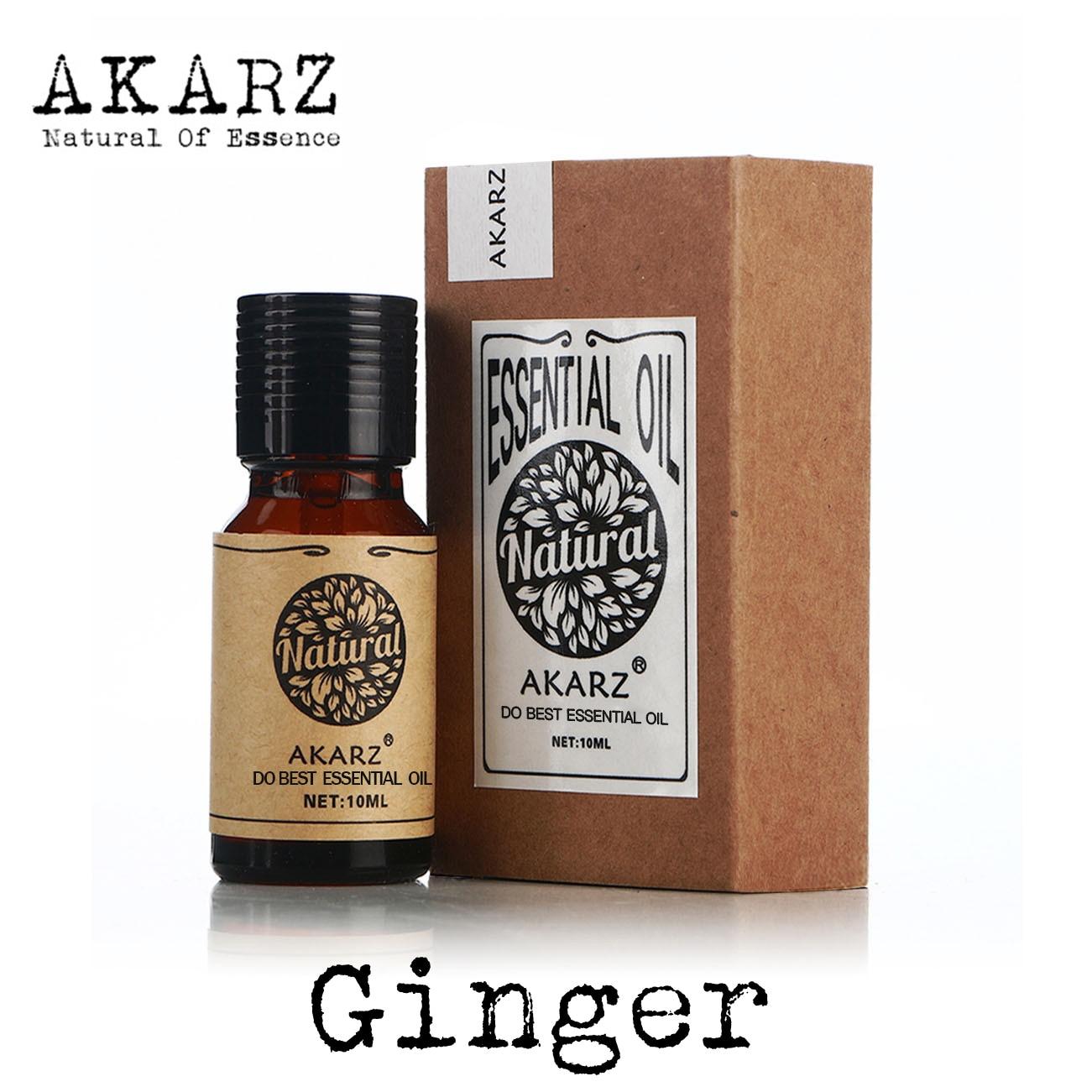 Имбирное эфирное масло марки AKARZ, натуральное масло, косметика, свечное мыло, ароматизатор «сделай сам», запахи, сырье, имбирное масло