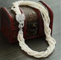 Gift Freshwater Pretty cubic zircon leopard head 4 5mm freshwater pearls multilayer choker necklaces bts diy choker