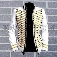 White men suits designs masculino homme terno stage costumes for singers men sequin blazer dance clothes jacket style dress