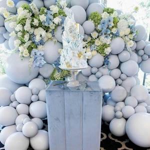 Image 4 - 20 adet 30 adet 50 adet 5 inç 10 inç Pastel gri balonlar mat gri Macaron balon düğün süslemeleri doğum günü parti malzemeleri