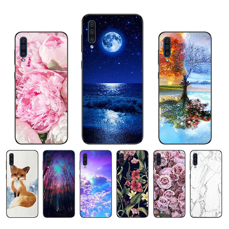 A50 Case Cover Sfor Samsung Galaxy A50 Case Silicone Black Matte Phone Case For Coque Samsung A50 2019 A 50 A505 A505 Soft Case