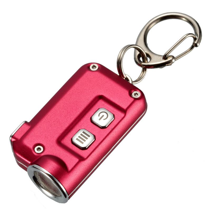 2018 New Nitecore TINI CREE XP-G2 S3 380 Lumens Micro-USB Charging Mini Metallic Key Chain Light Flashlight With Battery