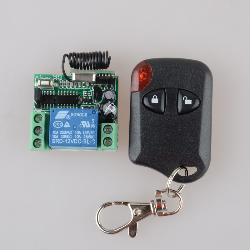 DC 12v 10A Relay 1CH Wireless RF Remote Control Switch Transmitter Receiver 315MHZ/433MHZ Smart Home long range remote control switch dc 12v 1 ch 10a relay 4 receiver 1 transmitter learning code 315 433 4204
