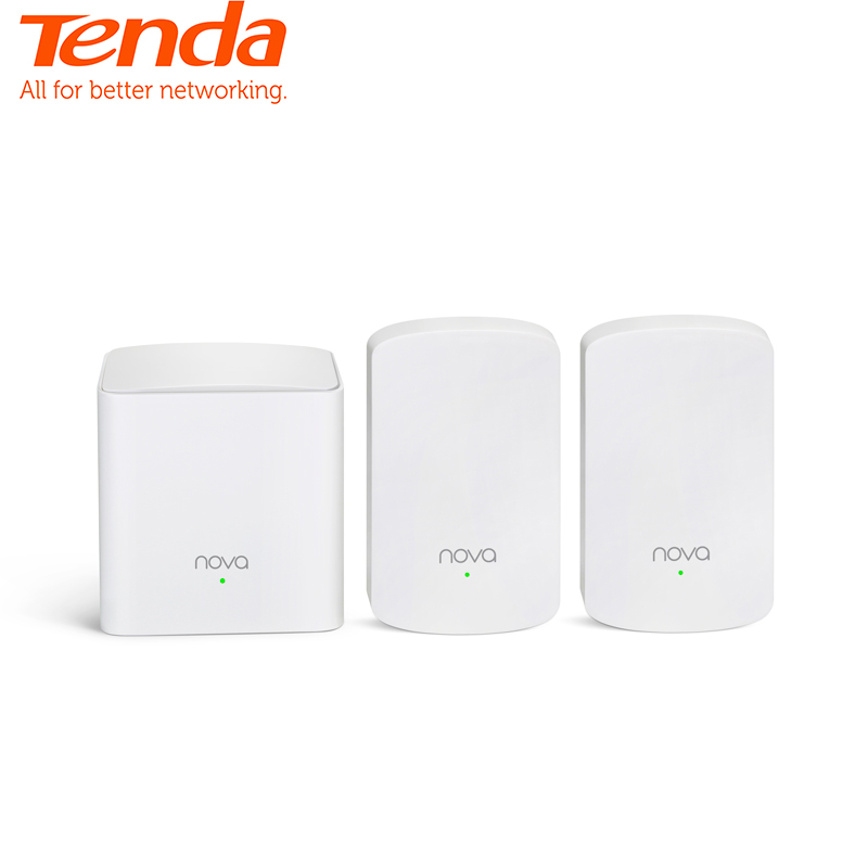 Tenda Nova MW5 Whole Home Mesh WiFi Gigabit System With AC1200 2.4G/5.0GHz WiFi Wireless Router And Repeater, APP Remote Manage