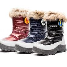 купить Stylish and comfortable warm solid color ladies snow boots winter plus cotton warm and comfortable non-slip winter women shoes дешево