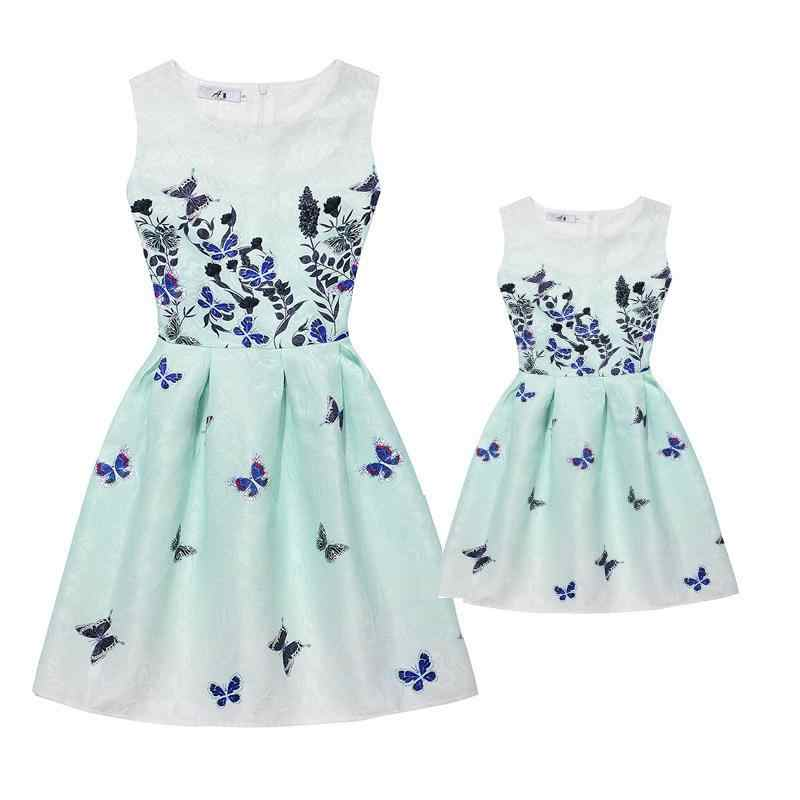 963eb456c9fa8 Summer Mother Daughter Dresses Clothes Mom and Daughter Dress Family  Matching Outfits Look Clothing Print Mae e Filha Vestido