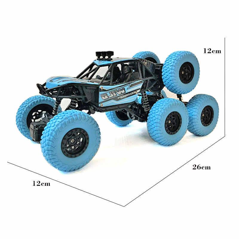 Dropshopping 2019 RC автомобиль 4WD 6 колеса машины-внедорожники электрический пульт дистанционного управления игрушка на радиоуправлении led Привод внедорожный грузовик подарок