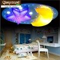 Детские потолочные светильники Qiseyuncai с мультяшными звездами и луной  Потолочная люстра с дистанционным управлением для детской спальни