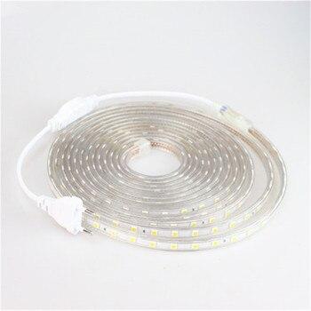 Светодиодная лента 5050 220 В водонепроницаемая гибкая светодиодная лента 220 В лампа наружная гирлянда 1 м 2 м 3 м 4 м 5 м 10 м 12 м 15 м 20 м 25 м 60 светоди...
