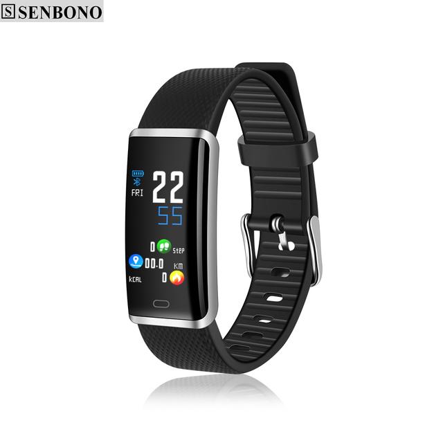 SENBONO R9 Smart Bracelet Men Women Waterproof Fitness Tracker Smart Band Blood Pressure Heart Rate Monitor Wristband for IOS