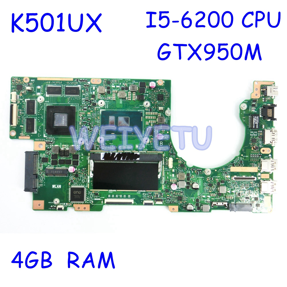 <font><b>K501UX</b></font> GTX950M with i5-6200 CPU 4GB RAM Motherboard REV2.0 For <font><b>ASUS</b></font> <font><b>K501UX</b></font> K501UB K501U K501UXM Laptop Mainboard Rev 2.0 image