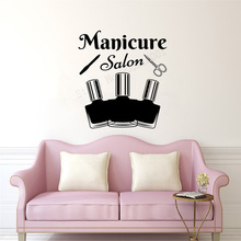Art Salon Sticker Manicure Wall Decoration Removeable Decal Beautiful Girl Poster Women Cute Mural Haircuts DecorativeLY67