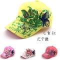 2016 Korean Butterfly Embroidery Children Hip Hop Baseball Cap Candy colors Summer Hat Outdoor Boys Girls snapback Caps