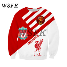 WSFK populaire Liverpool hommes impression 3D sweat style décontracté Harajuku street sports long sleeve