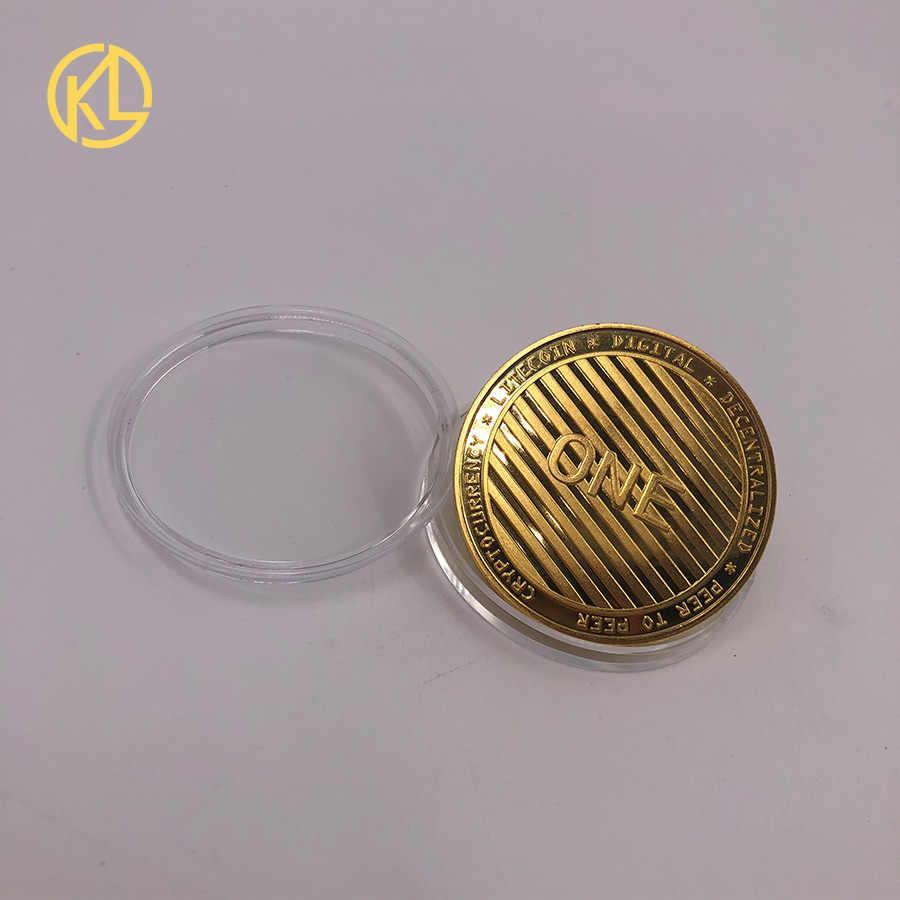 99.99% Oro Argento Placcato Bitcoin Moneta BTC Litecoin Ripple Ethereum Dash Monero EOS Moneta Cryptocurrency Metallo Commemorazione Coin