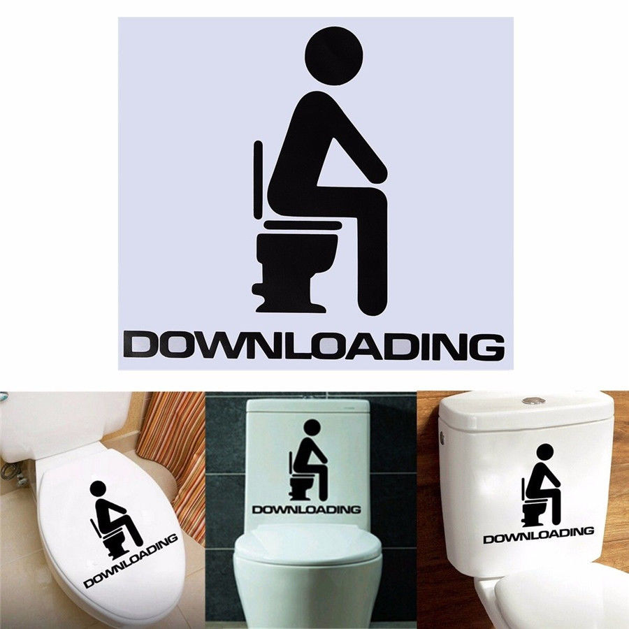 Free Shipping toilet stickers wall decor DIY vinyl bathroom decal mual Wall Sticker A 15 in Wall Stickers from Home Garden