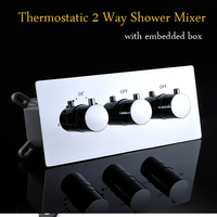 Bathroom Fixtures Thermostatic Shower Faucet Mixing Valve 2 Ways Concealed Easy mount Diverter / Bathtub Mixer
