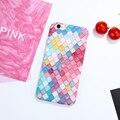 Розовый Симпатичные 3D Красочные Рыбья Чешуя Телефон Случаях Для Apple iPhone 6 Case 6 S Плюс Жесткий Задняя Крышка Коке Для iPhone 6 7 6 S Plus Shell