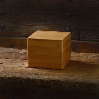 TOP GRADE Magnetic cover bamboo nine grid box Multi-grid wooden tabletop bamboo household finishing storage box 17cm plywood