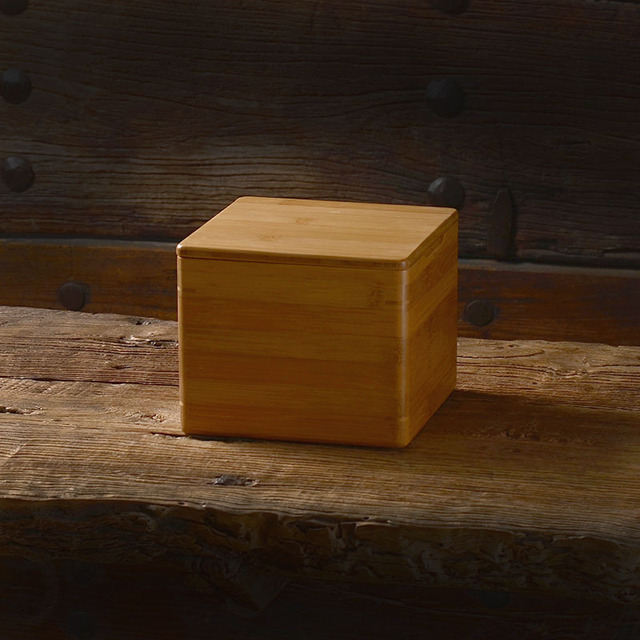 TOP GRADE Magnetic Cover Bamboo Nine Grid Box Multi Grid Wooden Tabletop  Bamboo Household Finishing