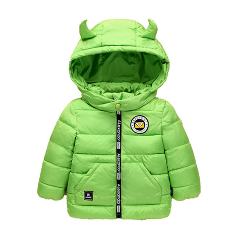 LILIGIRL Children Jackets Winter Hooded Parkas Kids Girls Boys Cute Coats Baby Windproof Warm Outwear Unisex Clothing 2-8 Years