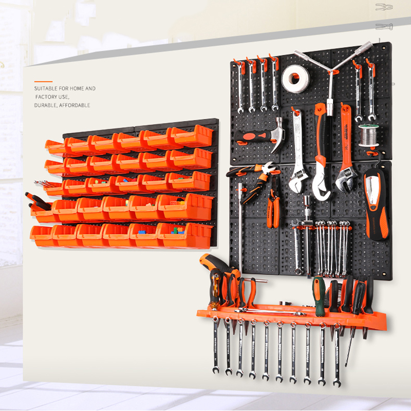 Component-Box Shelving Parts Storage-Bin Rack-Tool Organiser Plastic Wall-Mounted Hanging