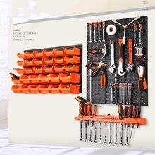 Настенный стеллаж для хранения, запчасти для инструментов, стеллаж для гаража, органайзер, компонент, коробка, подвесной пластиковый крючок, ящик для инструментов