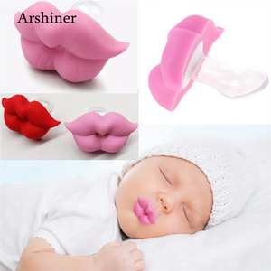 Pacifier Baby Able Mouth Newborn Silicone Cute Lip Infants To Strengthen Unisex Casual