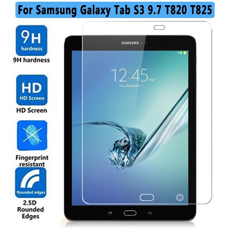 Prime Anti-Déflagrant En Verre Trempé Pour Samsung Galaxy Tab S3 9.7 T820 T825 Tablet Protecteur D'écran Pour Galaxy Tab S3 9.7