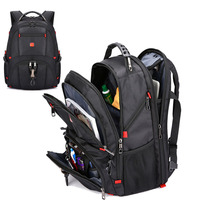 Swiss Men's Backpack 17inch Laptop Shockproof School Bags Travel Notebook Male City Casual Waterproof Multifunction Backpack