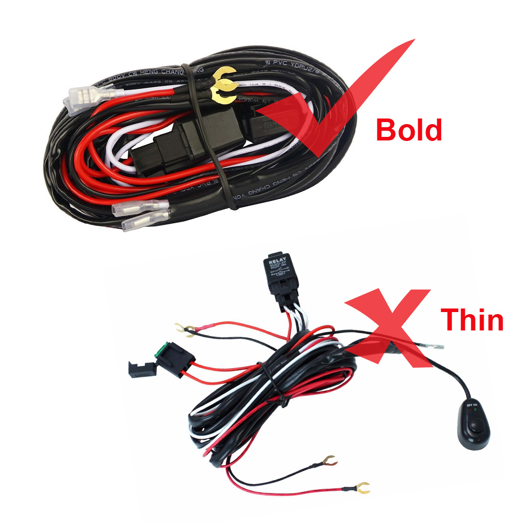 Hang Wire Harness Wiring Library Universal Automotive Kit Car Fog Light Loom For Led Work Driving Bar With Fuse
