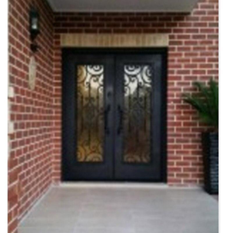 Portes d'entrée doubles de luxe portes extérieures doubles hollandaises