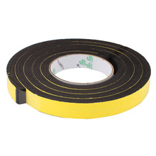 Uxcell Hot Sale 1PCS 15/20/25mm Width Single Sided Sponge Self Adhesive Shockproof Foam Tape Insulation 2M Yellow Black