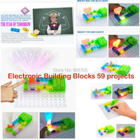59 проектов цепи смарт-электронный комплект интегральная схема строительные блоки ELENCO Привязать экстремальные наука дети игрушки