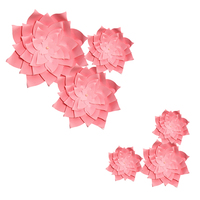 HAOCHU Roze Thema Bruiloft Decoratie 6 Stks Mix Maten Papier Bloem Papier Pom Pom Graduation Meisjes Verjaardagsfeestje