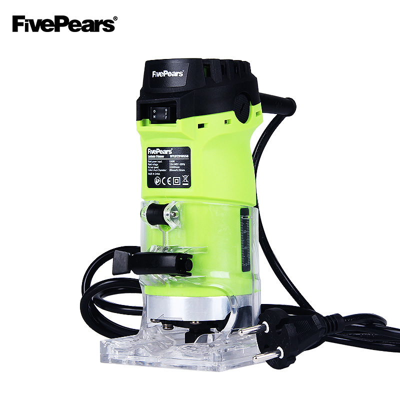 FivePears 6mm and 1/4 woodworking trimmer tool 550W power electric router for woodwork with european plugs free shipment