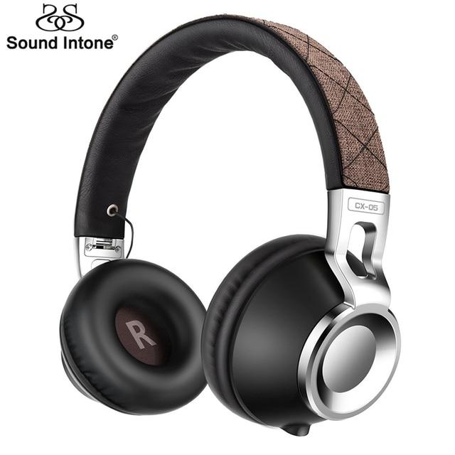 Sound intone cx-05s wired fones de ouvido com 3.5mm jack auriculares fone de ouvido fone de ouvido dobrável para computador destacável para o telefone móvel